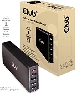 Club3D USB Type A & C Power Chager 充電器 111W 出力 USB C & A 5 ポート (CAC-1903)