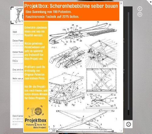 Scherenhebebühne selber bauen: Deine Projektbox inkl. 2275 Seiten Original-Patente bringt Dich mit Spaß ans Ziel!