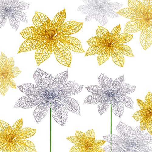 Flores Para Navidad Doradas flores para navidad  Marca MELLIEX