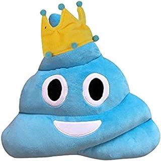 Wemi Cute Emoji Emoticon Cushion Blue Poop Shape Pillow Soft Plush Toy