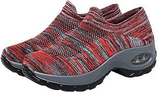 Holibanna Womens Wandelschoenen Slip- op Sok Sneakers Air Kussen Mesh Casual Running Jogging Gym Sportschoenen 23 CM