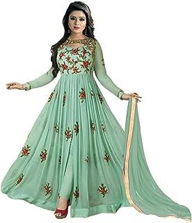 Fancy Lifestyle women's embroidery georgette Salwar suit (1145_Green_Free Size)