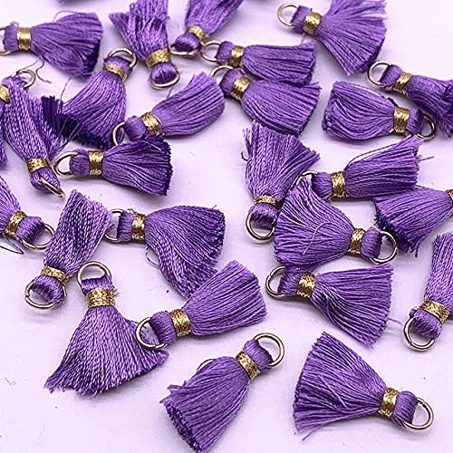 10 mini nappe in seta di poliestere da 20 mm da appendere con frangia e orecchini, accessorio per lavori di cucito e decorazione domestica, fai da te