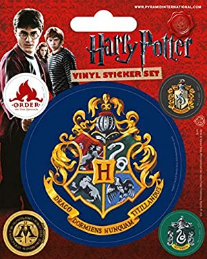 Harry Potter 1art1 Sticker Adhesive Decal - Hogwarts, Vinyl Sticker Set (5 x 4 inches)