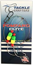 TACKLE CRAFTERS Saltwater Fishing Gear Surf Leaders Pompano Elite Rig 12 Pack Made in The USA