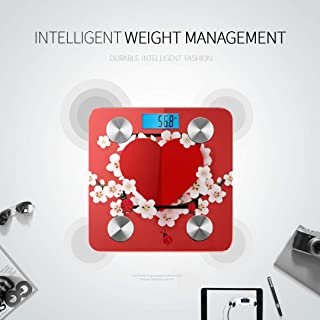 CHQTG Bluetooth Body Fat Scale Happy Valentines Day Modern Abstract Smart Wireless Scale with LCD Display Measuring Body Weight Bmi and Health Digital Sc