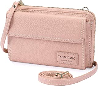 MOCA Girls Women Women's wallet sling bag for with Mobile Cell Phone holder Pocket Wallet Hand Purse Clutch Crossbody Sling Bag with Mobile Cell Phone wallet for Women Womens Girls