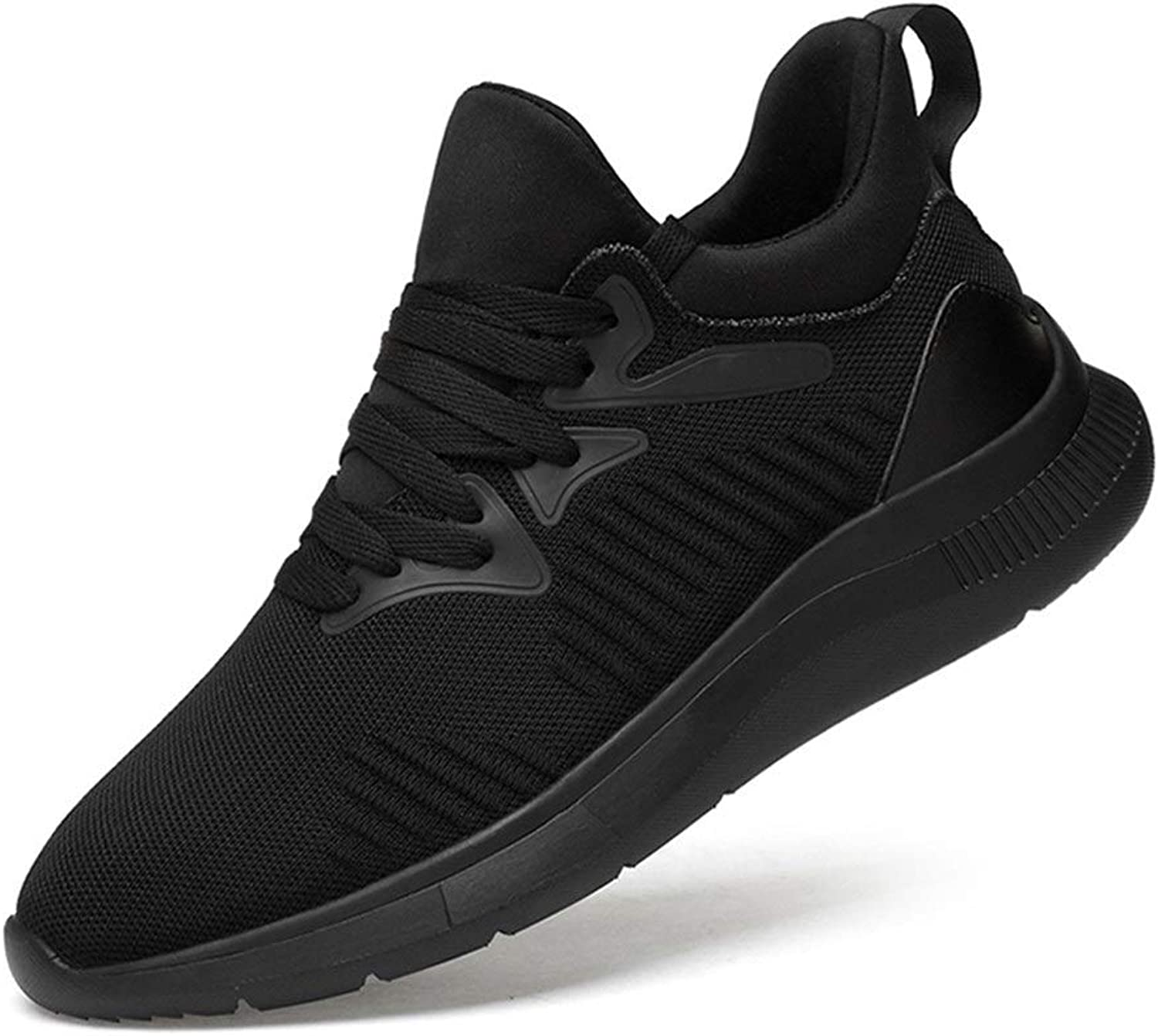 Ino Athletic shoes for Men Sports shoes Lace Up Style Knittimg Mesh+OX Leather Corporeal Breathable Stave Toe