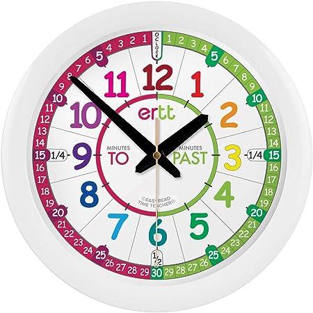 Acctim Wickford Enfants Temps Enseignement Horloge Murale 20 cm-Bleu éducatif