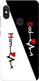 MOBIERA 3D Printed Design Back Cover for Redmi Note 5 Pro (Mom & Dad Design)