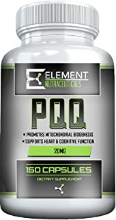 PQQ - (150ct x 20 mg) by Element Nutraceuticals - Supports Heart and Healthy Mitochondrial Fuction