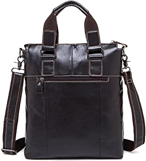 Men's Accessories 9.7 inch Laptop Handbag Dark Brown,Men's Messenger Bag Vintage Style Leather Crossbody Shoulder Outdoor Recreation