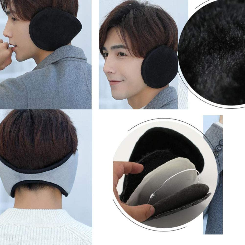 Set of 2 Warm Winter Earmuffs Winter Ear Warmers Covers for Cold Weather Behind The Head Style, D12