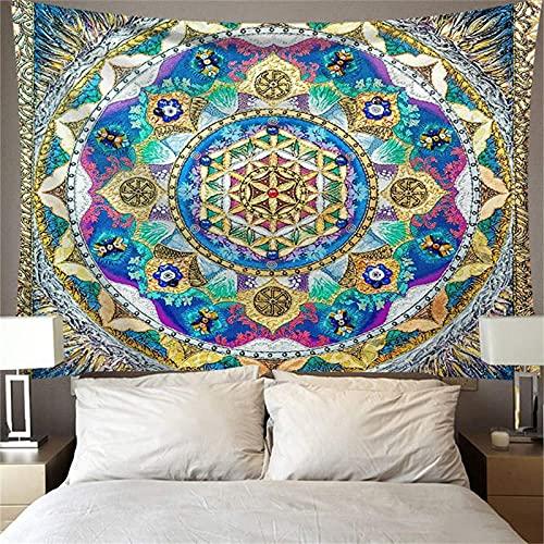 YYRAIN Tapiz Hippie Mandala Arte De La Pared Decoración Bohemia Colgante De Pared Estilo Art Deco 200x150cm B