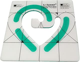 """YEQIN Non-Slip Freemo Heart Ruler 3""""X3"""" Patchwork Quilting Template"""