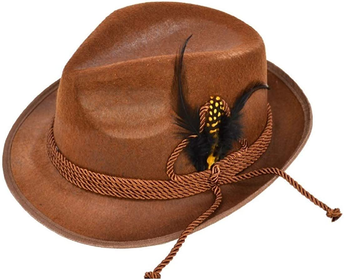 Forum Mens Alpine Hat with Feather