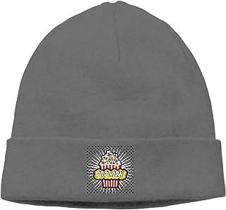 73644dc0084 Cartoon Delicious Popcorn Unisex Winter Knitting Wool Warm Hat Daily  Slouchy Hats Beanie Skull Cap