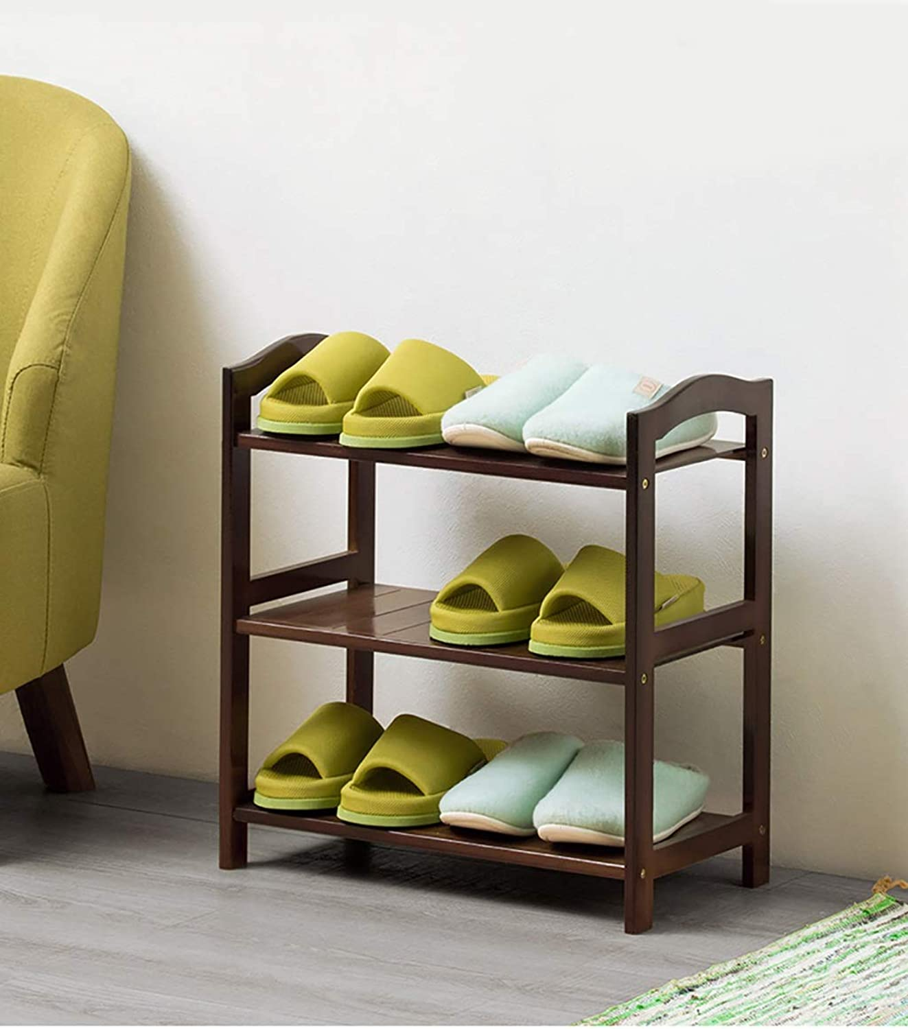 shoes Bench Organizing Rack shoes Rack Simple Solid Wood Storage shoes Cabinet Multifunctional Storage Rack (Size   50  25  50cm)