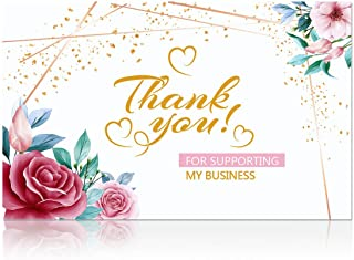 Thank You for Your Business Card (Business Card Sized) Blank Cards Elegant Floral Design,Business Cards Thank You for Supp...