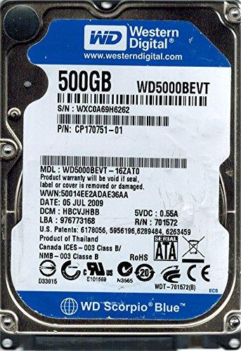 Western Digital WD5000BEVT-16Zat0 500Gb Dcm: Hbcvjhbb