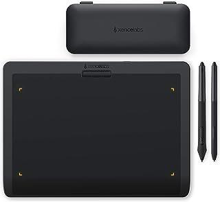 XENCELABS ペンタブレット 板タブ 8192筆圧レベル 傾き検知機能 薄型8mm 描画用ペンタブレット お絵描きペンタブ 2本充電不要ペン付き 黒 PC Mac Linux対応