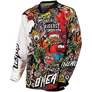 0023C-105 - Oneal Mayhem 2015 Crank Motocross Jersey XL Black/Multi