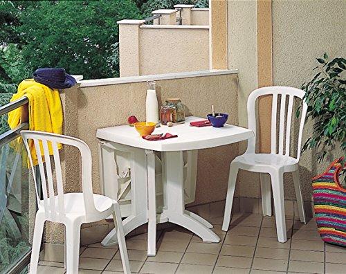 Grosfillex 52149004 Mesa Vega Abatible 118 x 77, Blanco, 118 x 77 x 72 cm