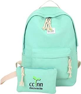 Student Backpack Schoolbag, Small Fresh Bean Sprouts Rope Schoolbag, Unisex Solid Color Haversack Shoulder Bag