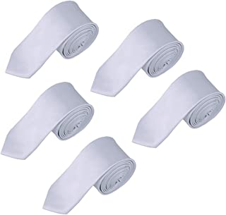 Solid Color Boys Tie Wholesale 5PCs Children and Teen's Necktie Wholesale 2.5 inches
