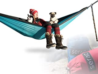 Serac [Premium Double Hammock & Strap Bundle Sequoia XL Portable Double Camping Hammock with Ripstop Nylon and Quick-Hang Suspension System