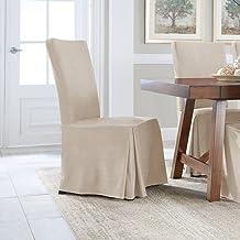 غطاء ناعم من الجلد السويدي المريح من سيرتا لكراسي الطعام عبوة من قطعتين