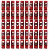 Nähen Craft Quilt Binding Kunststoff Clips Klemmen klar und rot