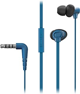 Panasonic RP-TCM130E-A Canal In-Ear Headphones w Mic, Blue