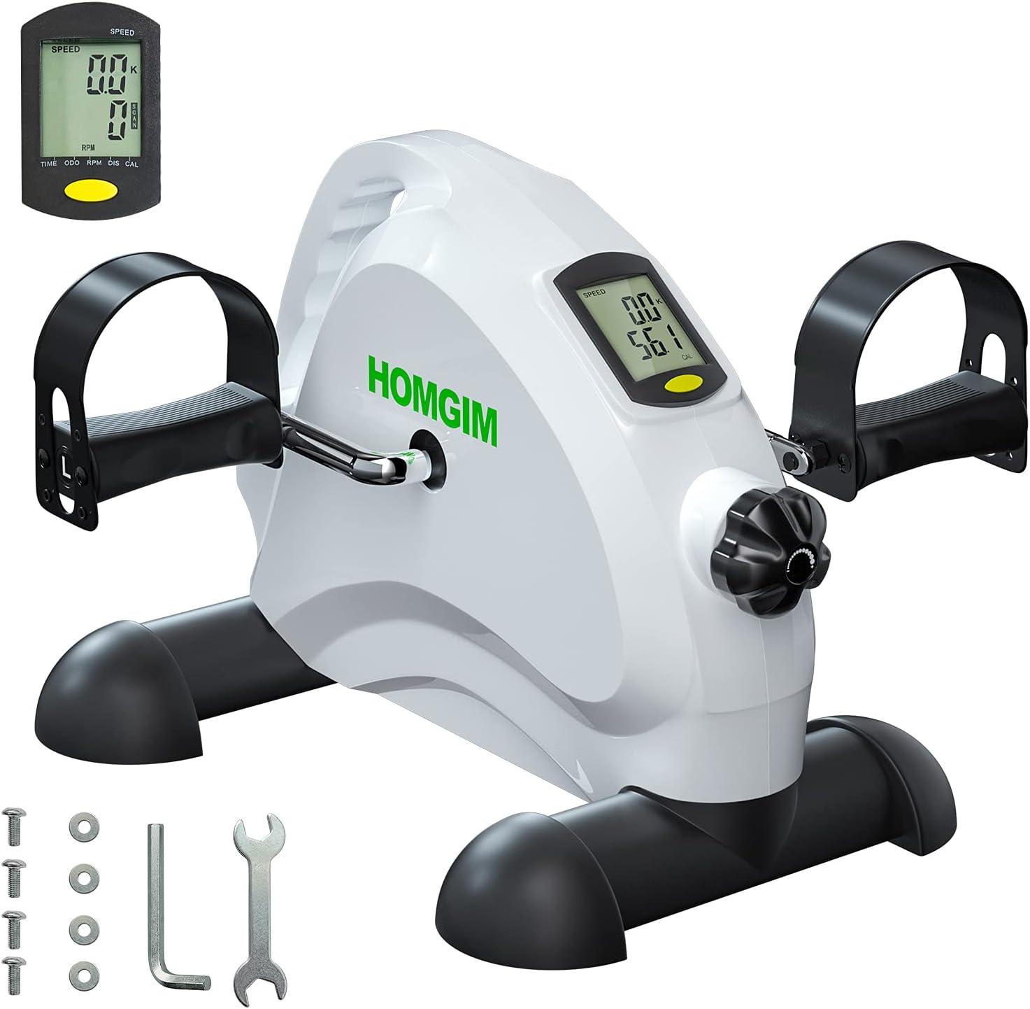 HOMGIM Under Desk Bike 高級品 Pedal Mini Low 海外輸入 Exerciser Smooth Noise
