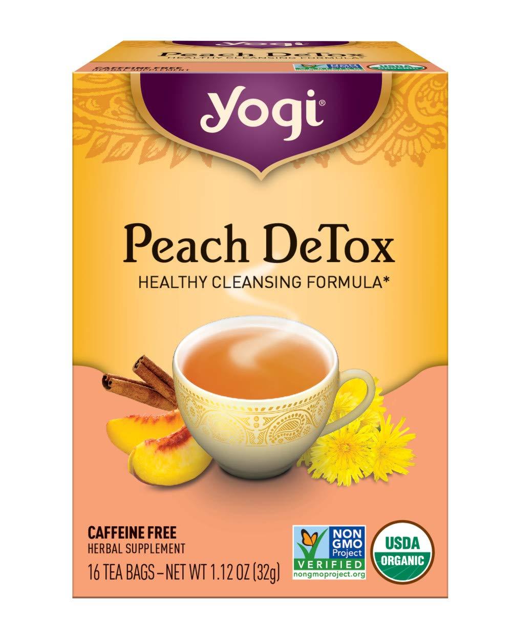 Yogi Tea, Peach DeTox, 16 Count