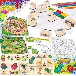 2. Dinonano Dinosaur Rubber Stamps Kids Art Set
