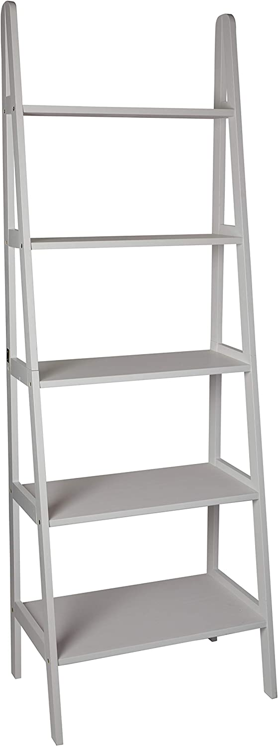 Casual Home 176-51 5 Shelf Ladder Bookcase, White