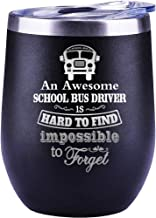 School Bus Driver Appreciation Gifts, Retirement Gifts For School Bus Driver, Christmas Present Cup Wine Glass