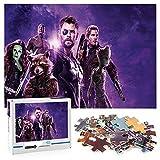 Thor Adult puzzle 1000 piezas Infinity War Jigsaw puzzle juguetes para adultos Herramienta de descompresión El mejor regalo 70x50cm-Marvel hero