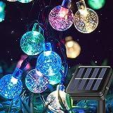Globos solares multicolores, 15 m, 100 luces LED para exteriores, impermeables, para fiestas, con 8 modos de iluminación para decoración de festivales, bodas, patios y fiestas (coloridos)