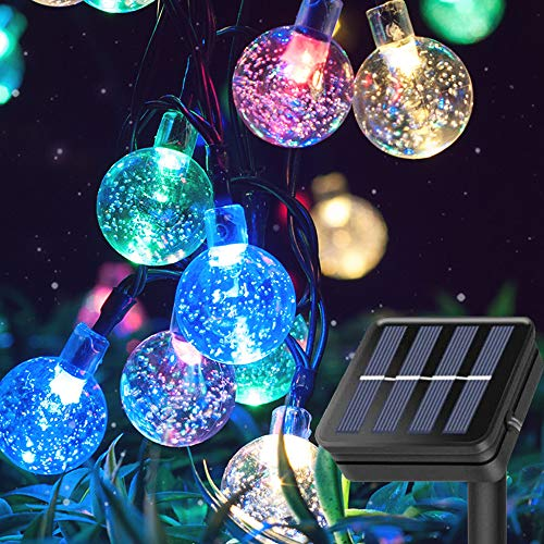 Multicolor Solar Globe Lights, 15M 100 LED Outdoor Solar Globe String Lights, Waterproof and Decorative Party Lights with 8 Lighting Modes for Festival , Wedding, Patio Party