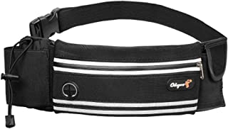 Odepro HS01 Waist Pack, Waist Bag Pack with Adjustable Belt, Phone Pouch, Key Card Pocket, Water Bottle Holder, Earphone Hole, for Outdoor Fitness