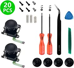 Onyehn 2-Pack 3D Replacement Joystick Analog Thumbstick for Switch Joy-Con Controller - Include Tri-Wing, Cross Screwdriver, Pry Tools, Spring and Screws Kit(20in1)