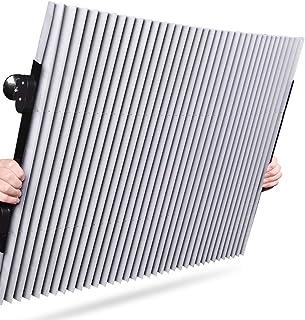 YANQI Parabrisas Coche Cortinas Automático Retráctil Cubierta para Coche Espesar Película de Aluminio Eficiente Protector Solar Bloquear los Rayos Ultravioleta(46-65cm)