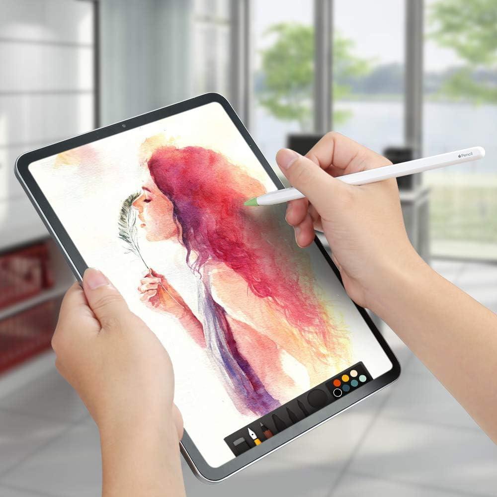 USSJ /Étui compatible avec les embouts de crayon Apple pour 2e g/én/ération jaune, rose, matcha, blanc, vert menthe avec pointes en silicone pour iPad Pencil