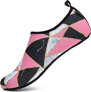 أحذية رجالية ونسائية سريع الجفاف للشعور وكأنك حافي القدمين على الشاطئ وحمام السباحة والغطس وركوب الأمواج والرياضات والمشي ...