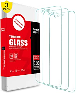 SMARTDEVIL 3 Pack Screen Protector Foils for Oneplus 5T Protective Tempered Glass Film for 6.01 Inch Screen with Installat...