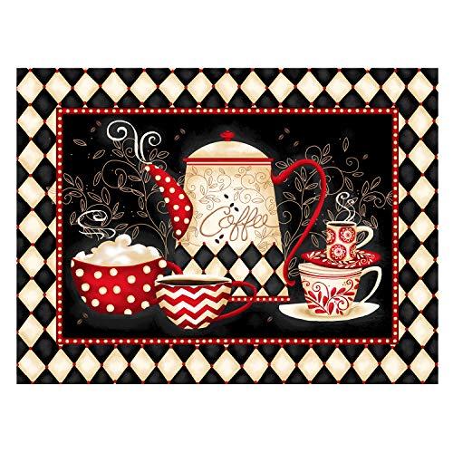 MXJSUA Kit de Pintura de Diamante 5D por número, Suministros de Imagen de Taladro Completo, artesanía, Pegatinas de Pared para el hogar, decoración, café, 30x40cm