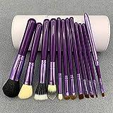 Myuig Pincel de Maquillaje Pincel de Contorno 12 Piezas Juego de Lanas Herramientas de Maquillaje para el Cabello de Caballo Tubo de Almacenamiento del Cubo de Maquillaje Herramientas de Maquillaje