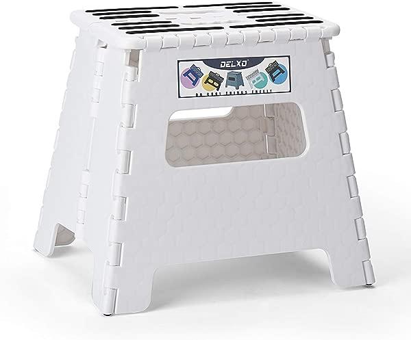 Delxo 折叠踏板凳 13 英寸塑料折叠凳厨房踏板凳防滑可折叠成人踏板凳塑料踏板凳 2019 升级